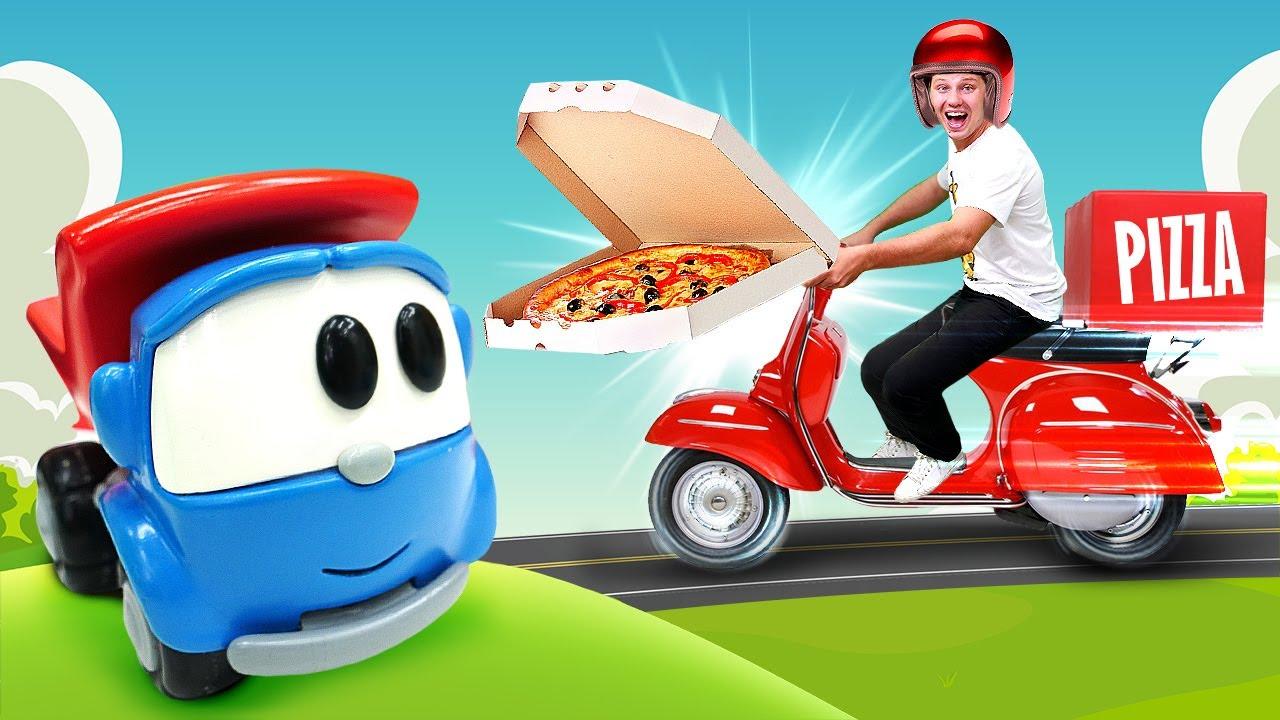 Веселая школа: доставка еды! Игрушки Грузовичок Лева и Тайо в видео для детей про машинки и Плей До