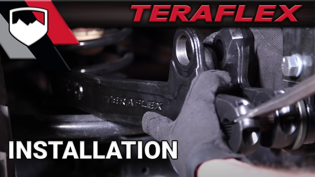 Teraflex Install Jk Forged Dual Rate S T Youtube
