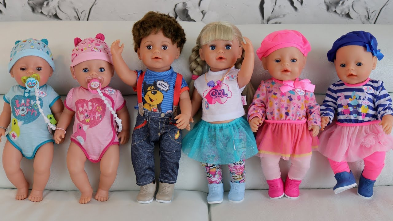 New Baby Born Dolls 2018 Unboxing Review Baby Dolls Nursery Toys Kids Pretend Play