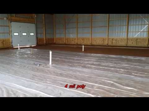 Installing a Heated Concrete Floor in Morton Barn