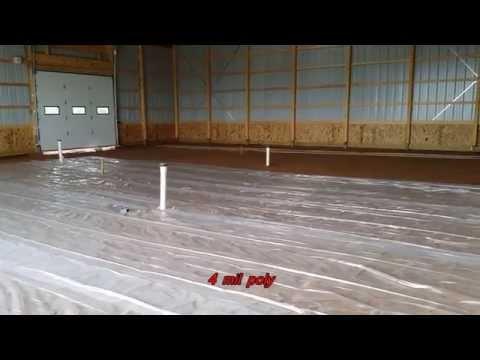 Installing a Heated Concrete Floor in Morton Barn