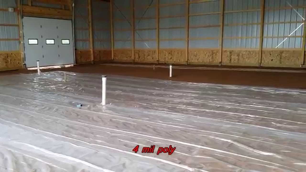 Heated Concrete Floor In Morton Barn