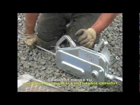 Griphoist Tirfor Portable Manual USAR Hoist for Lifting and Pulling