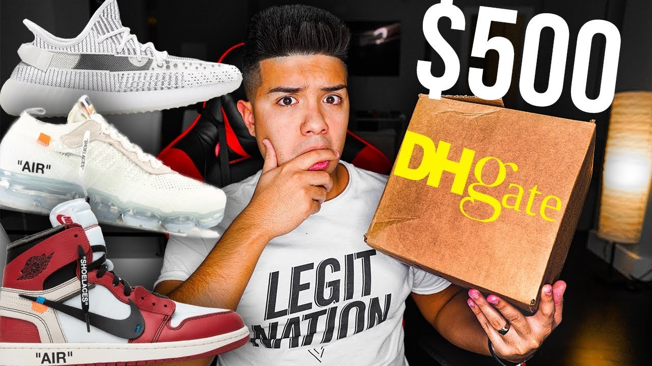 d7ce4eaa67354  500 DHGATE SNEAKER CHALLENGE!! - YouTube