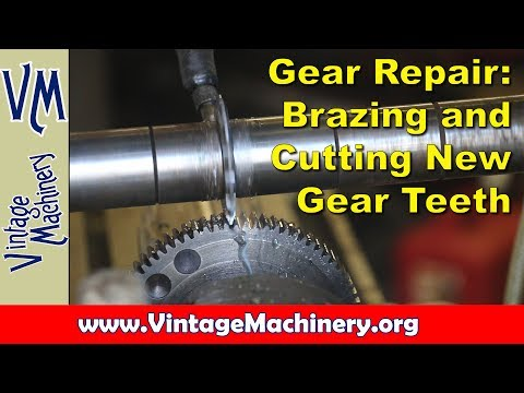 Broken Gear Repair:  Brazing Up and Machining New Teeth