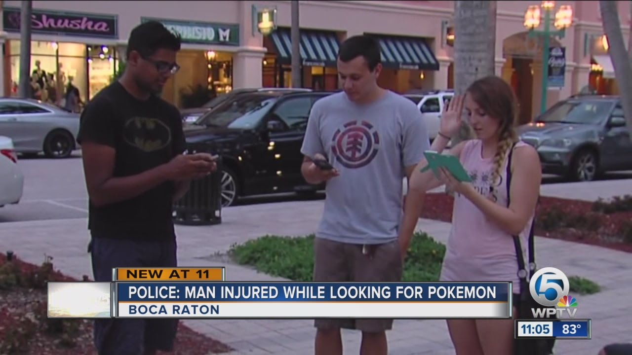 Man Injured While Playing Pokemon Go In Boca Raton Police Say Youtube