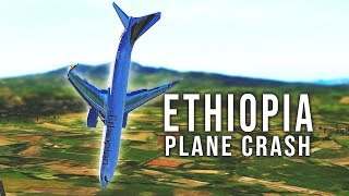Ethiopia Airlines Flight 302 Crash - B737 MAX 8 - Crash right after takeoff [SIMULATION]