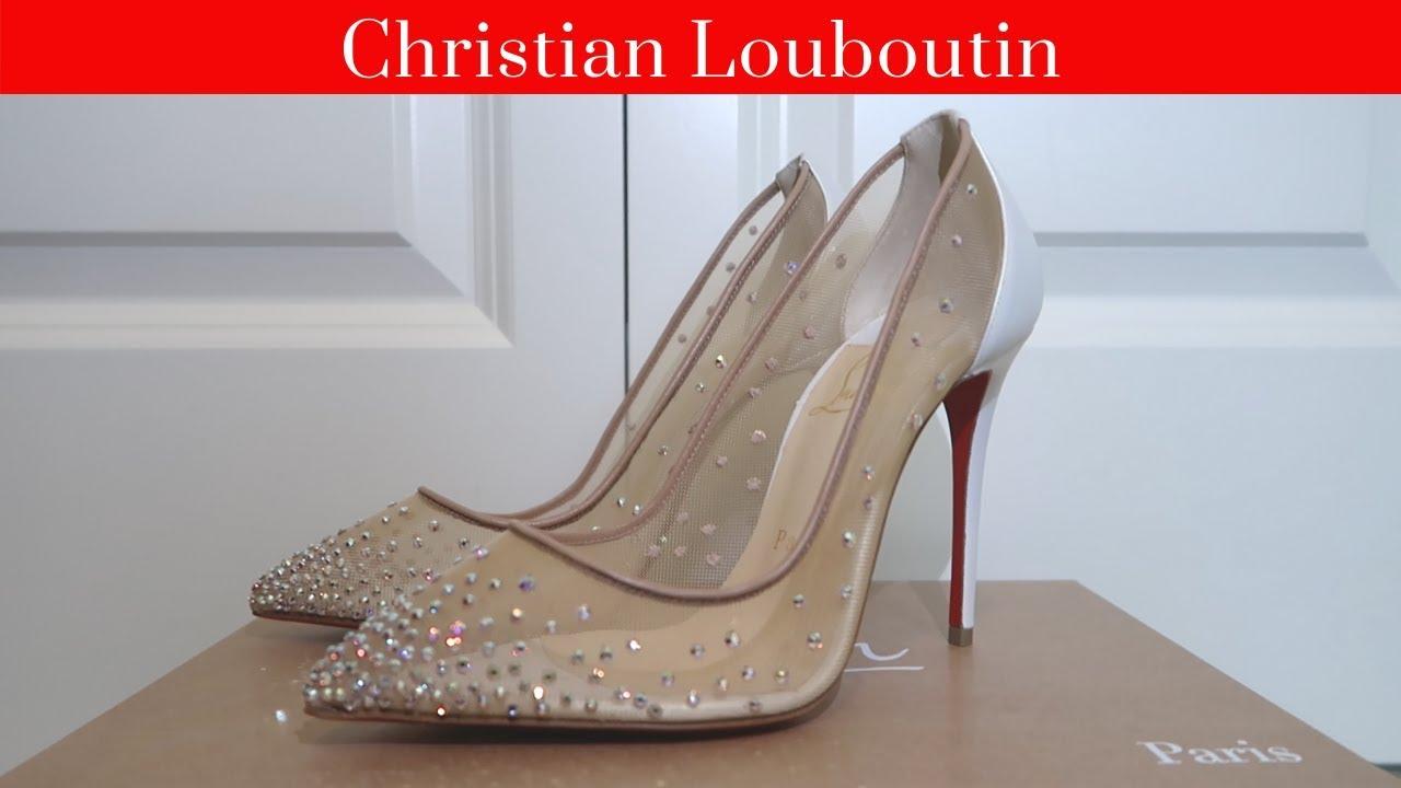 louboutin wedding shoe
