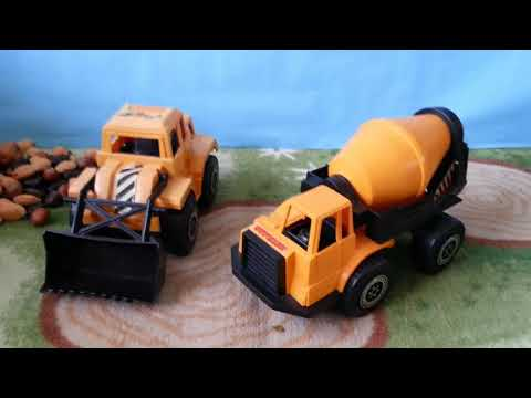 Digger Mixer Dump truck educational LEARN COLOURS COLORS video for kids and babies