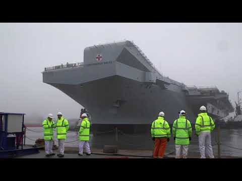 HMS Prince of Wales floated out of drydock