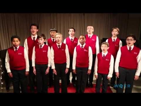 The American Boychoir Sings Christmas Songs in the WQXR Studio