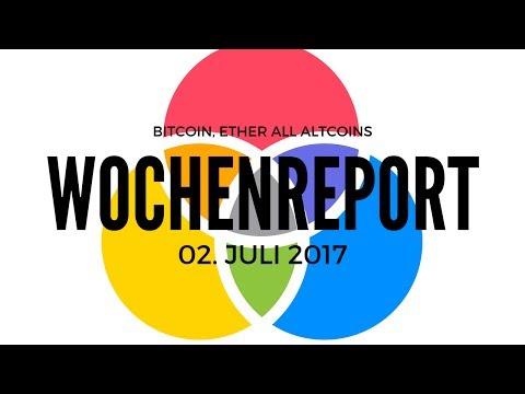 Wochenreport Bitcoin Ethereum Ripple LiteCoin DogeCoin Kurse aktuelle Charts 02 Juli 2017