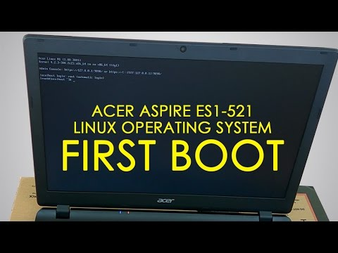 Acer Aspire Es1-521 Linux OS First Boot | FIX Root@Localhost Issue