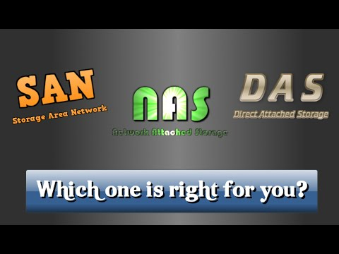 SAN v NAS v DAS - Which is right for you?