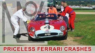 Ferrari 250 GTO '64 and AC Cobra crash – Goodwood Revival 2016