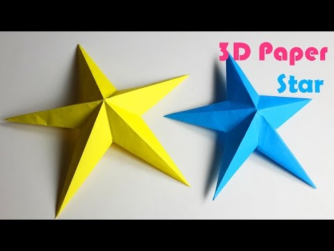 How to make Simple 3D Paper Stars - DIY Paper Crafts