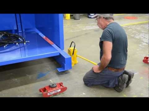 How To Use Machinery Skates, Toe Jacks And Roller Skids
