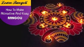 Learn Rangoli: How To Make Attractive And Easy Rangoli