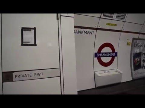 London Underground Bakerloo line journey Oxford Circus to Waterloo 1972 stock