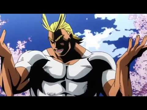 All might with johnny bravo's voice works... a little too well