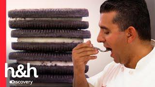 Buddy prova DEZENAS de sobremesas com biscoitos Batalha dos confeiteiros Discovery HampH Brasil