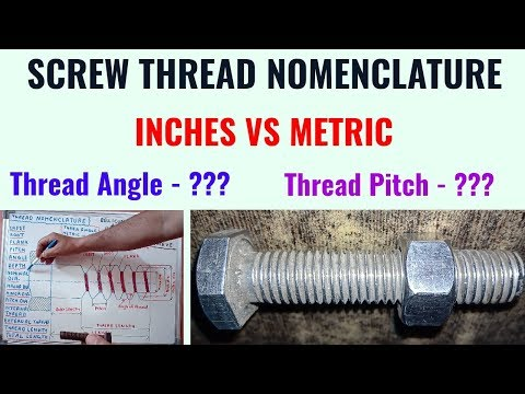 Screw Thread Nomenclature in Hindi - YouTube