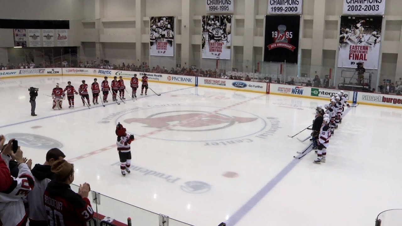 NJ Devils Celebrate 20th Anniversary of Stanley Cup Win - YouTube 646708fae