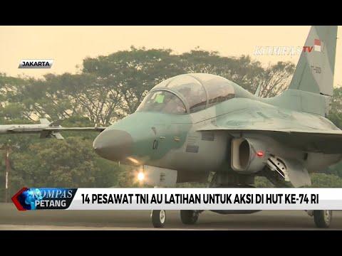 14 Pesawat TNI AU Latihan untuk Aksi di Hut Ke-74 Ri