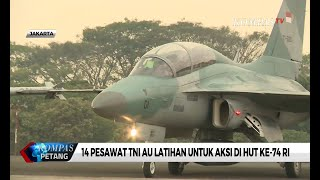 14 Pesawat TNI AU Latihan untuk Aksi di Hut Ke 74 Ri