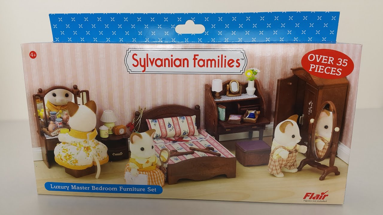 Luxury Master Bedroom Set Sylvanian Families - YouTube