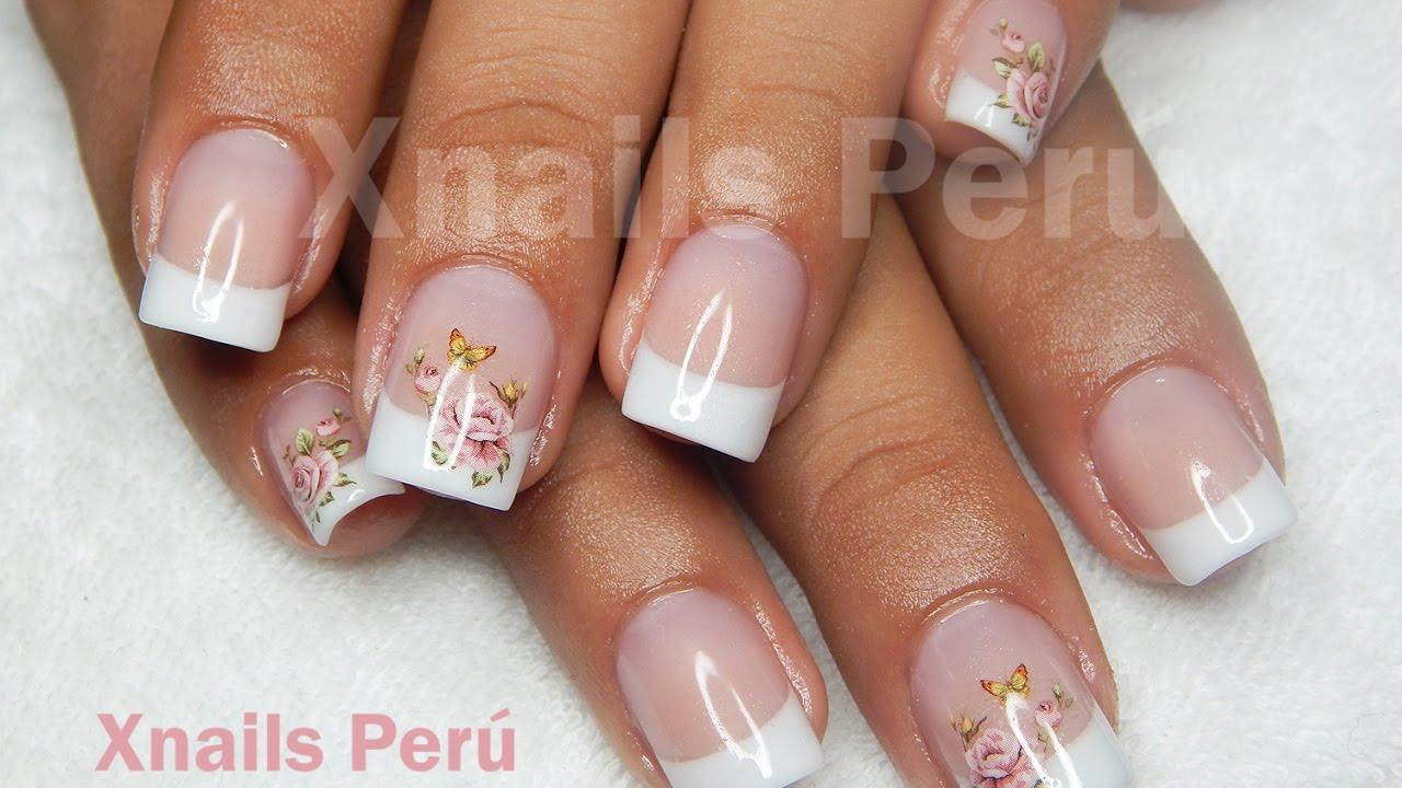 Uñas French Clásico y natural Cover Peach de Organic Nails Técnica ...