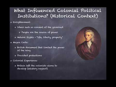 US Regents Review: Video #4: Colonial Political Institutions