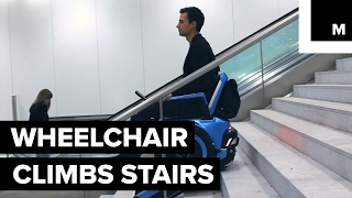 This wheelchair can climb stairs independently