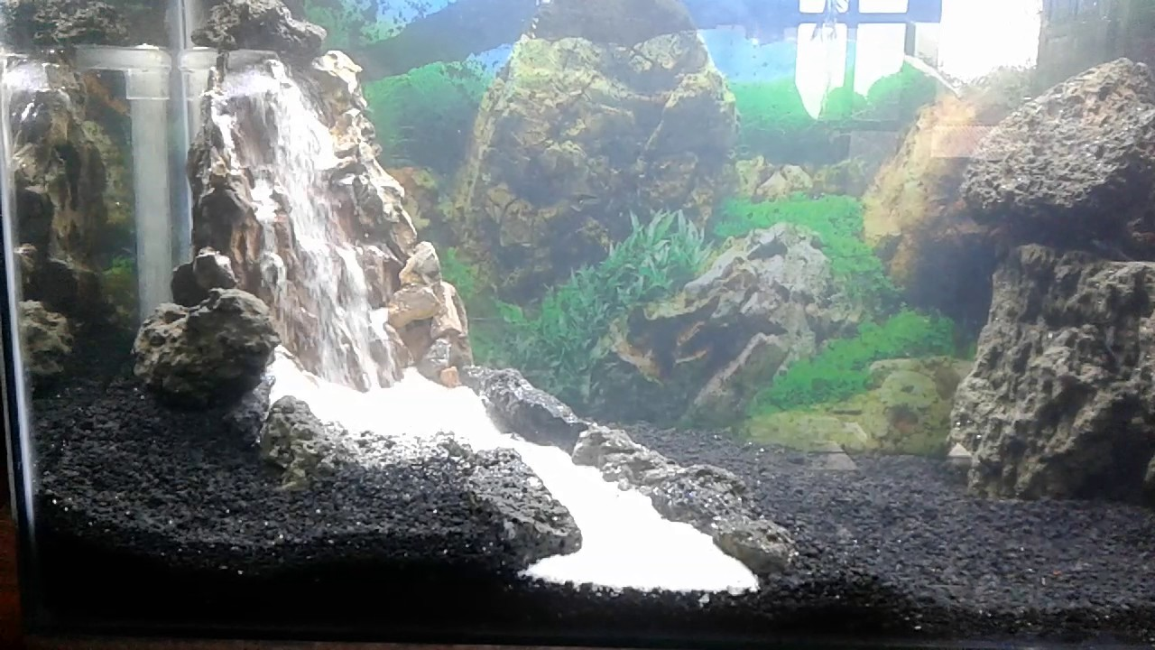 Waterfall sand aquascape aquarium (air terjun pasir aqu ...