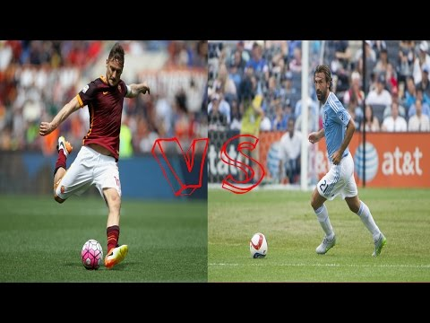 ANDREA PIRLO  VS FRANCESCO TOTTI ▶  Skills, Assists & Goals  2016 HD