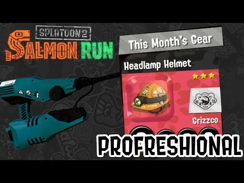 Splatoon 2 — The Headlamp Helmet Grind! Salmon Run Profreshional Livestream
