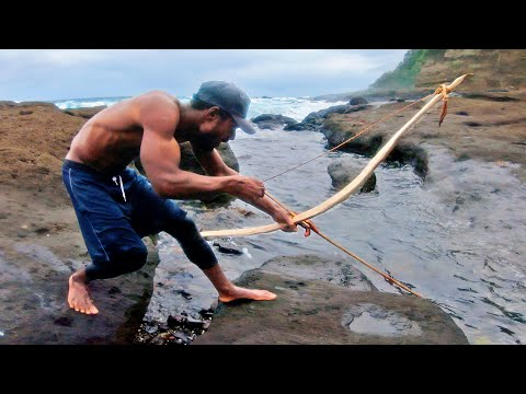 BOWFISHING Handmade Bow! Reef Fish Catch N Cook