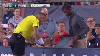 New England vs. Vancouver, August 12, 2017, Penalty Kick Decision