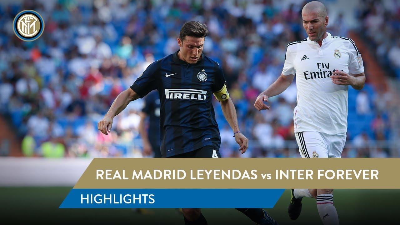7c710f273 REAL MADRID LEYENDAS 2-2 INTER FOREVER | Highlights | Zanetti, Figo, Zidane  and more.