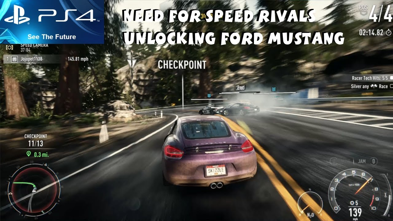 need for speed rivals ps4 gameplay 1080p unlocking ford mustang gt youtube. Black Bedroom Furniture Sets. Home Design Ideas