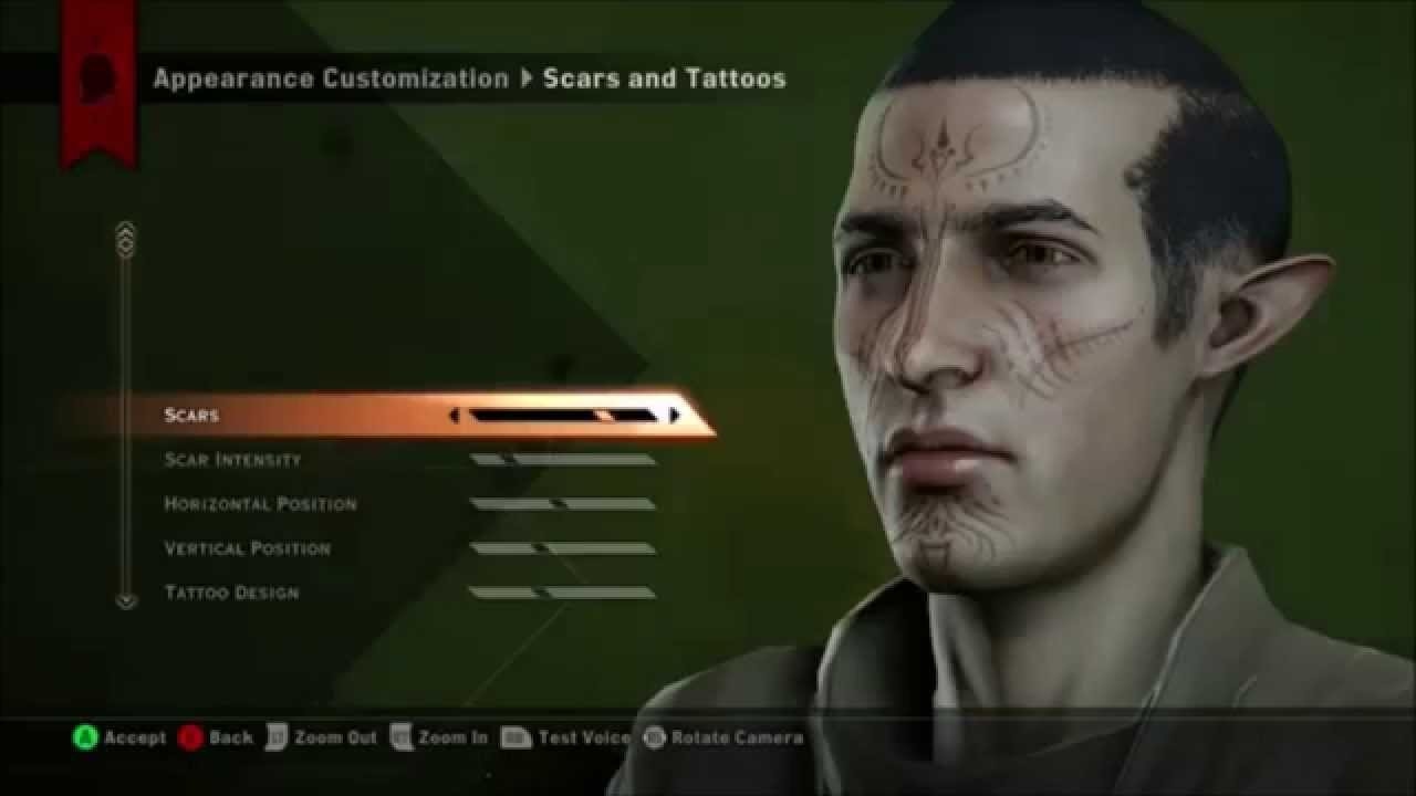 how to turn character in creation dragon age inquisition