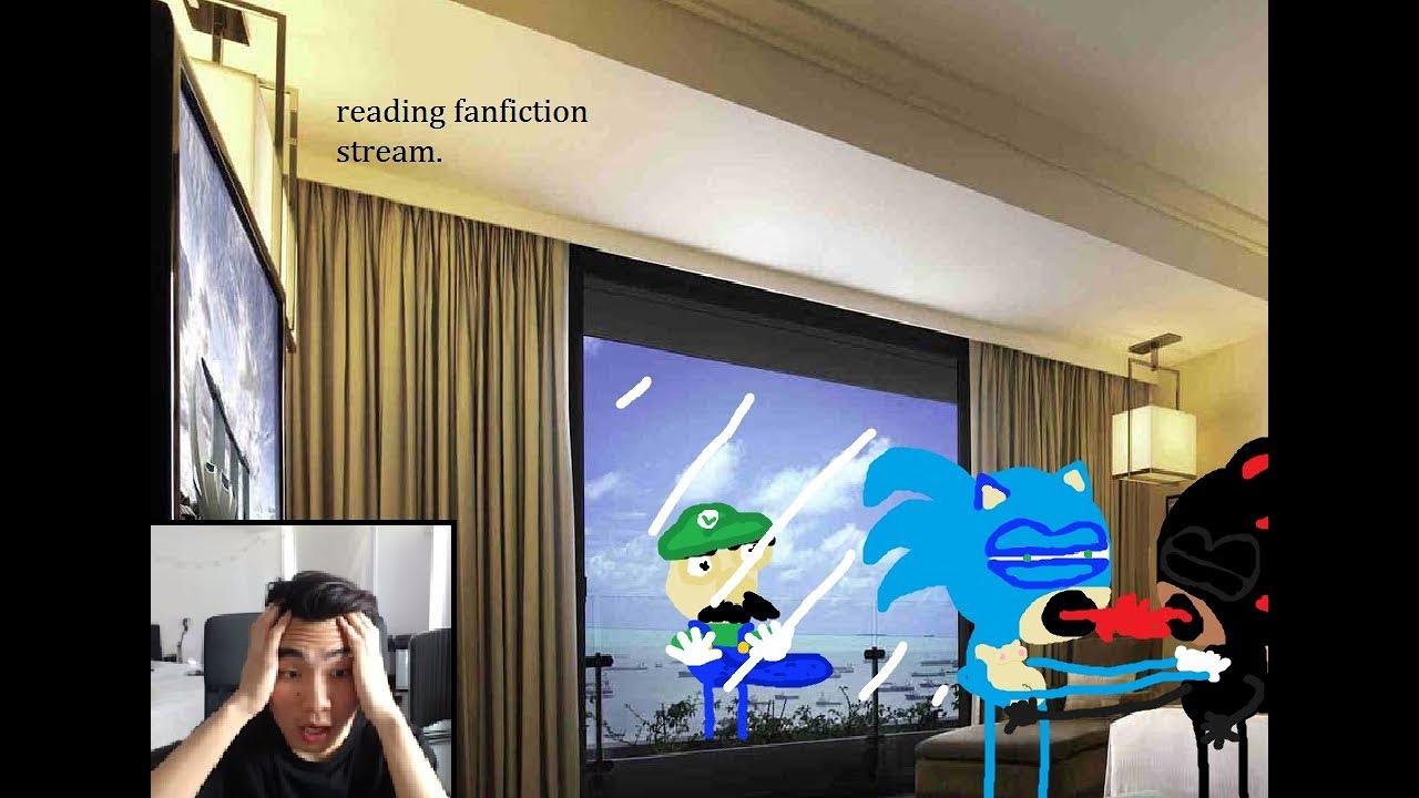 Reading Fanfictions Sonic X Shadow Luigi X Reader Youtube