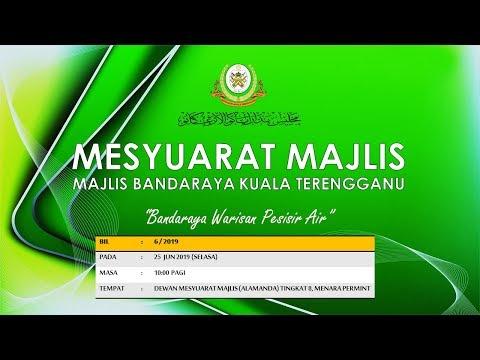 Live Streaming Mesyuarat Majlis MBKT Bil 6/2019