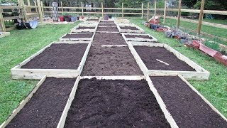 How to Design and Fill Raised Garden Beds : (Time-lapsed) My Main Beds are Designed and Filled!