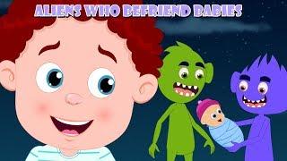 Aliens Who Befriend Babies | Schoolies Cartoons | Nursery Rhymes & Children Songs - Kids Channel