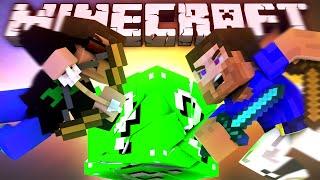 Битва За ЗЕЛЁНЫЙ ЛАКИ БЛОК! (Minecraft Паркур С Лаки Блоками!) | ВЛАДУС
