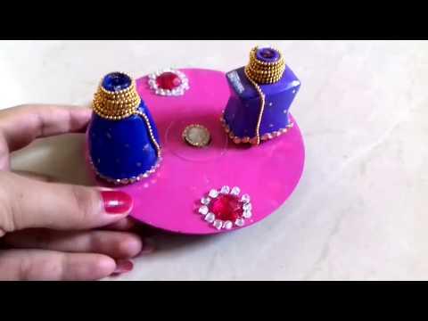 Diwali diya holder using waste nail Polish bottle