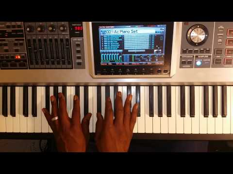 Practicing 1-5-6-4 chord progression in all keys on piano using intro to Freedom.