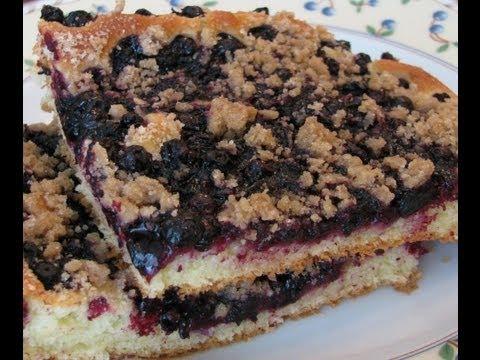 Дрожжевой пирог с черникой
