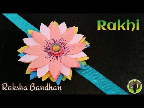 Flower Rakhi Bracelet for Raksha Bandhan (Design 3) - DIY   Handmade   Tutorial   राखी